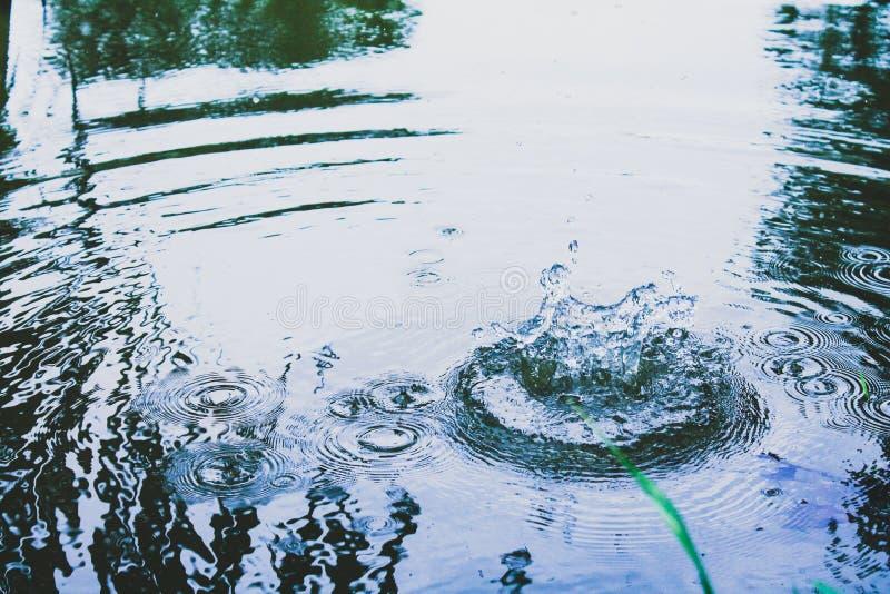 Ondulaciones en el agua imagen de archivo libre de regalías