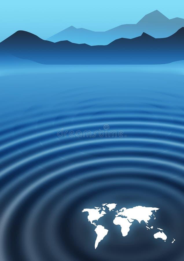 Ondulaciones globales ilustración del vector