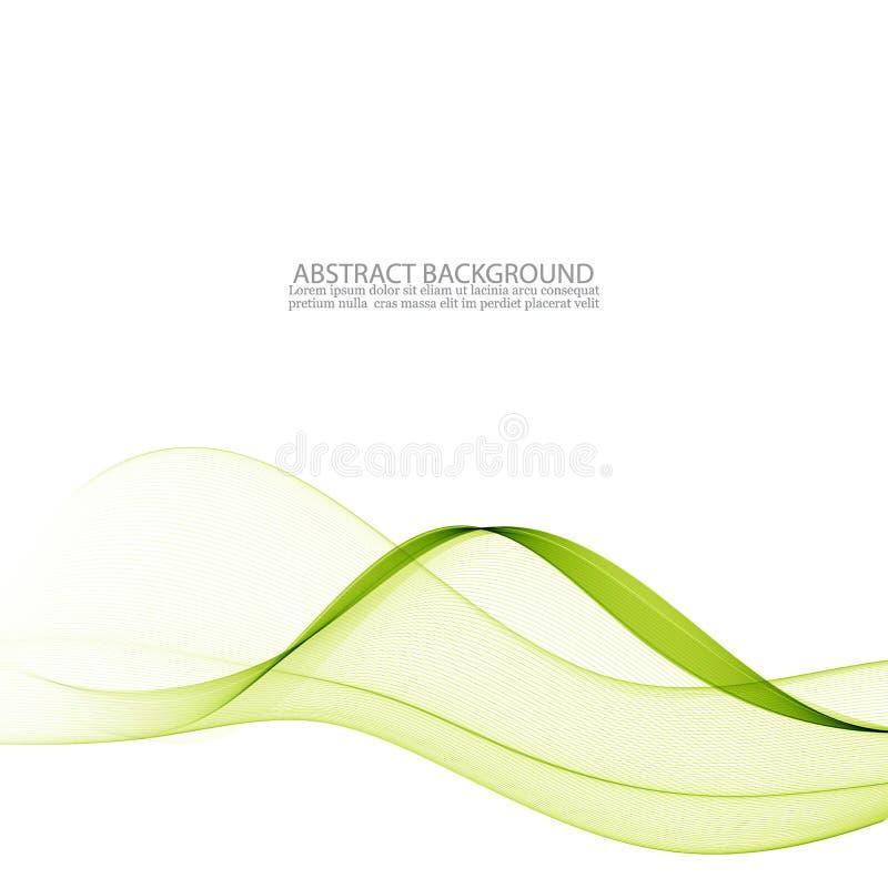 Ondulado verde abstracto Fondo colorido del vector onda verde transparente del humo ilustración del vector