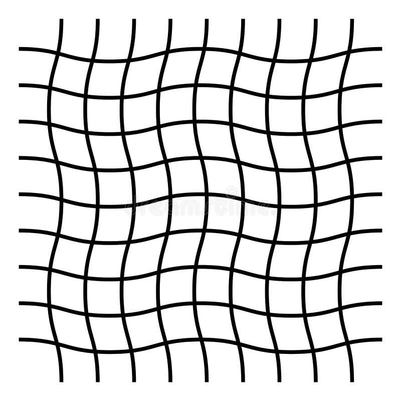 Ondulado, ziguezague, criss cruze o teste padrão de grade ilustração do vetor