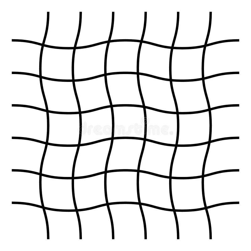 Ondulado, ziguezague, criss cruze o teste padrão de grade ilustração royalty free