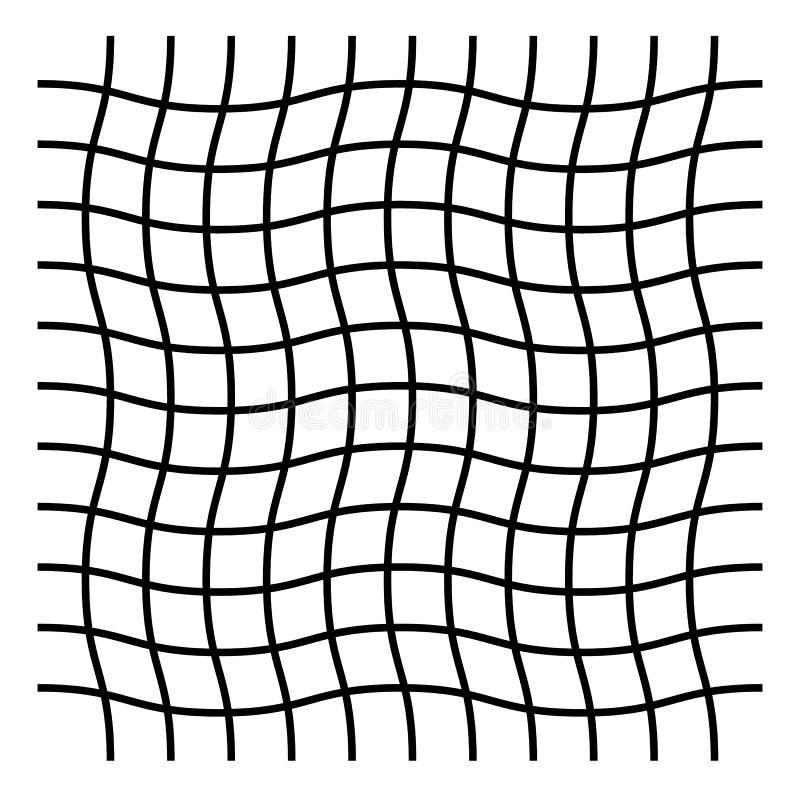 Ondulado, ziguezague, criss cruze o teste padrão de grade ilustração stock