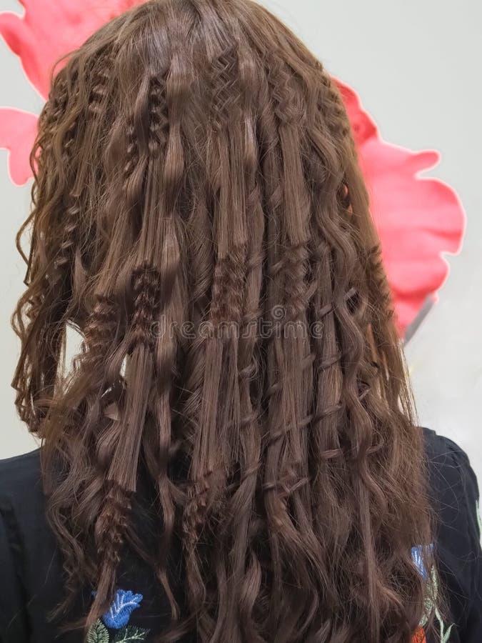 Ondulando uma costa do cabelo Fim acima imagens de stock royalty free