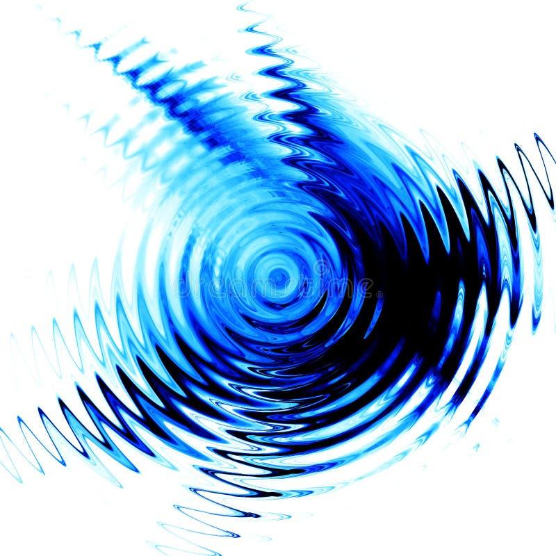 Ondulation bleue dans l'eau images stock