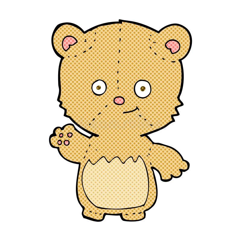 ondulation comique d'ours de nounours de bande dessinée illustration de vecteur