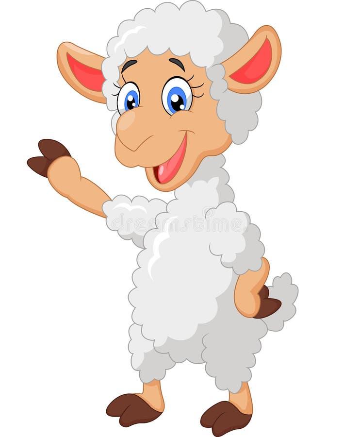 Ondulation d'agneau de bande dessinée illustration libre de droits