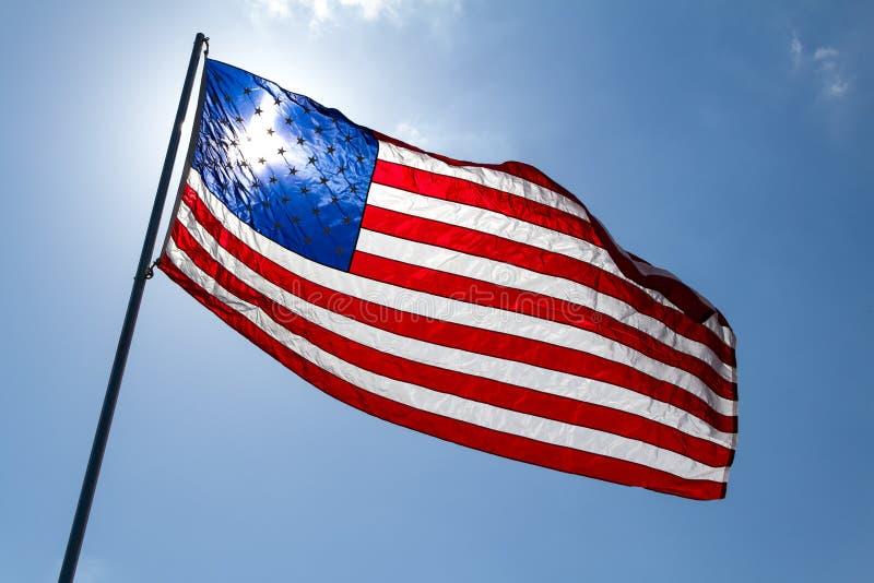 Ondulation d'indicateur américain image libre de droits