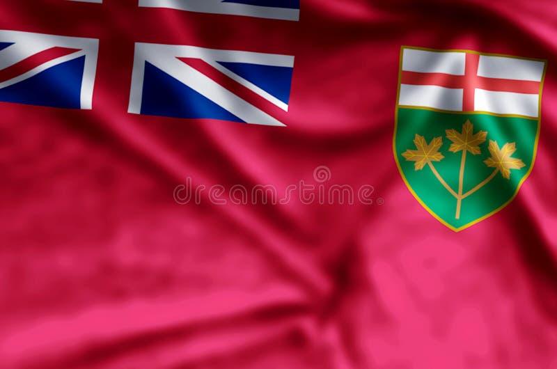 Ondulation d'Ontario et illustration colorées de drapeau de plan rapproché illustration libre de droits