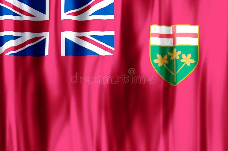Ondulation d'Ontario et illustration colorées de drapeau de plan rapproché illustration de vecteur