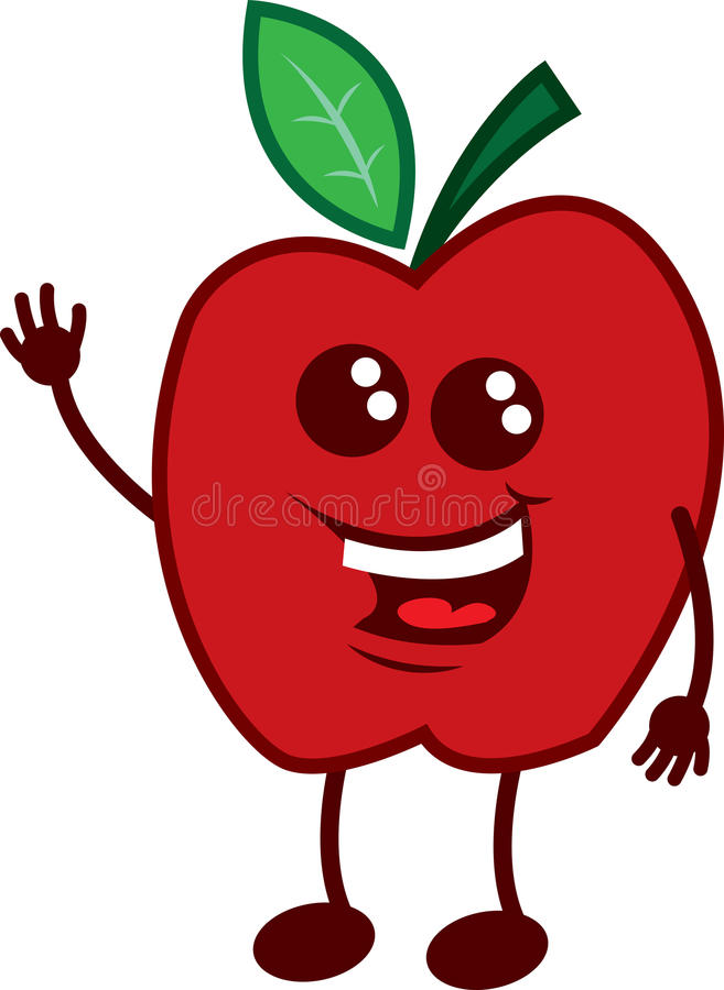 Ondulation de caractère d'Apple illustration libre de droits