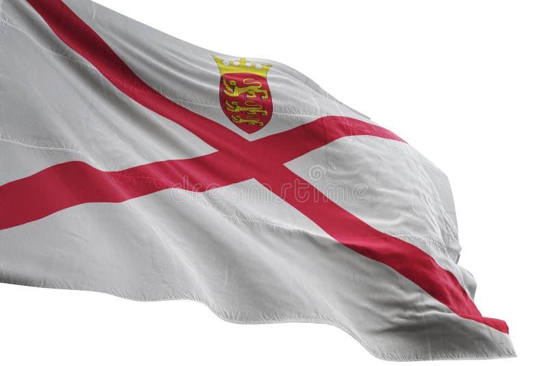 Ondulation de drapeau national de débardeur d'isolement sur l'illustration blanche du fond 3d illustration stock