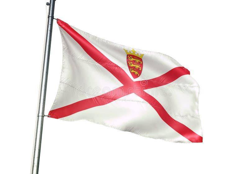 Ondulation de drapeau national de débardeur d'isolement sur l'illustration 3d réaliste de fond blanc illustration de vecteur
