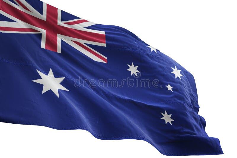 Ondulation de drapeau national d'Australie d'isolement sur l'illustration blanche du fond 3d illustration de vecteur