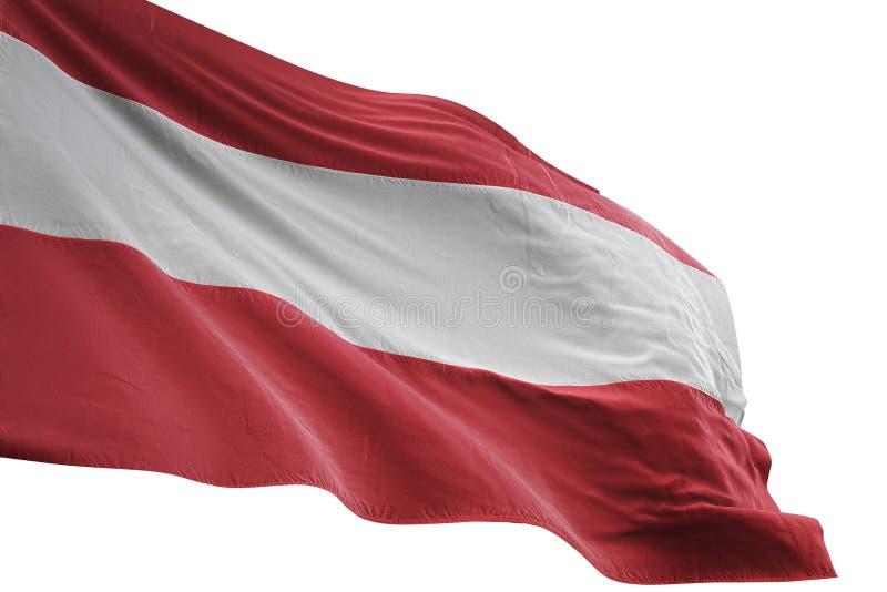 Ondulation de drapeau national de l'Autriche d'isolement sur l'illustration blanche du fond 3d illustration libre de droits
