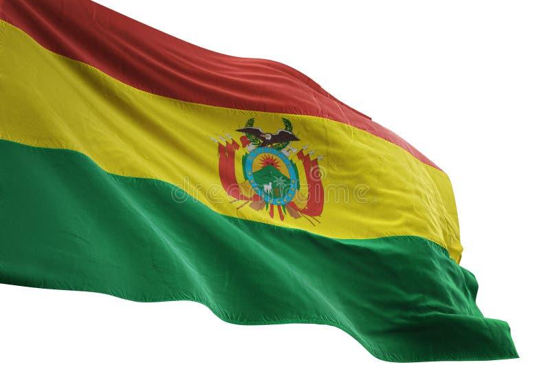 Ondulation de drapeau national de la Bolivie d'isolement sur l'illustration blanche du fond 3d illustration de vecteur