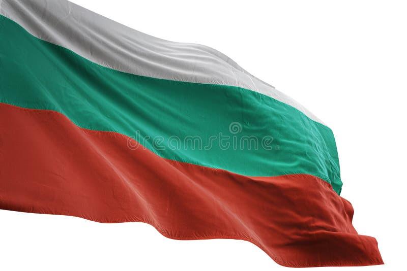 Ondulation de drapeau national de la Bulgarie d'isolement sur l'illustration blanche du fond 3d illustration libre de droits