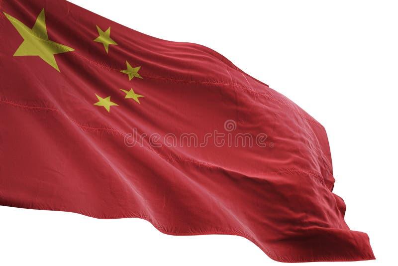 Ondulation de drapeau national de la Chine d'isolement sur l'illustration blanche du fond 3d illustration de vecteur