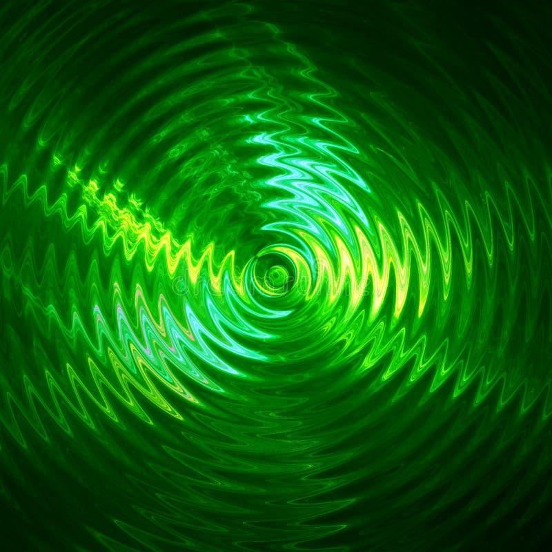 Ondulation de feu vert dans l'eau photo stock