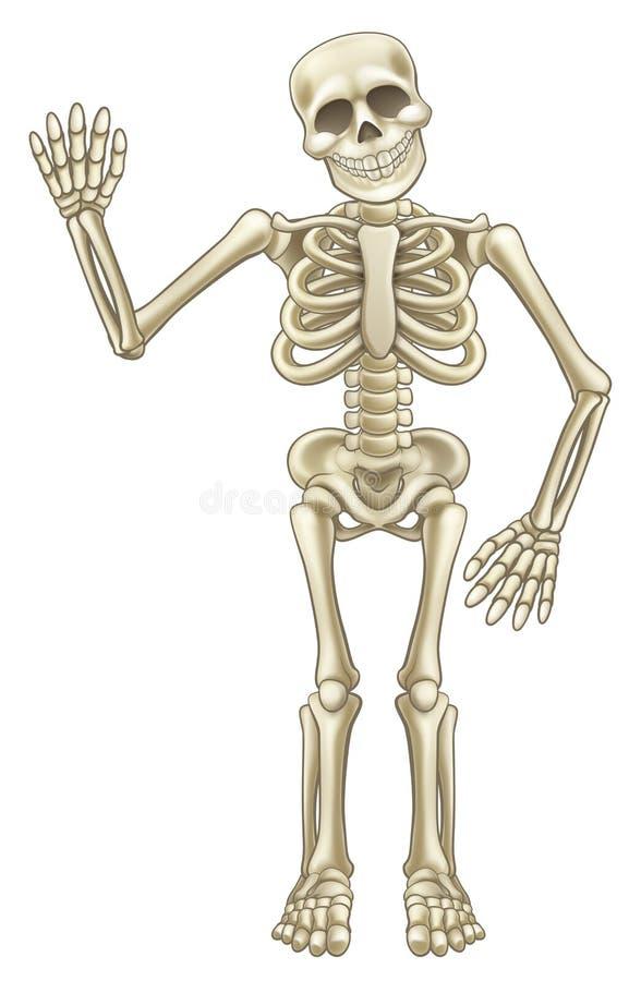ondulation de squelette de bande dessinée illustration de vecteur