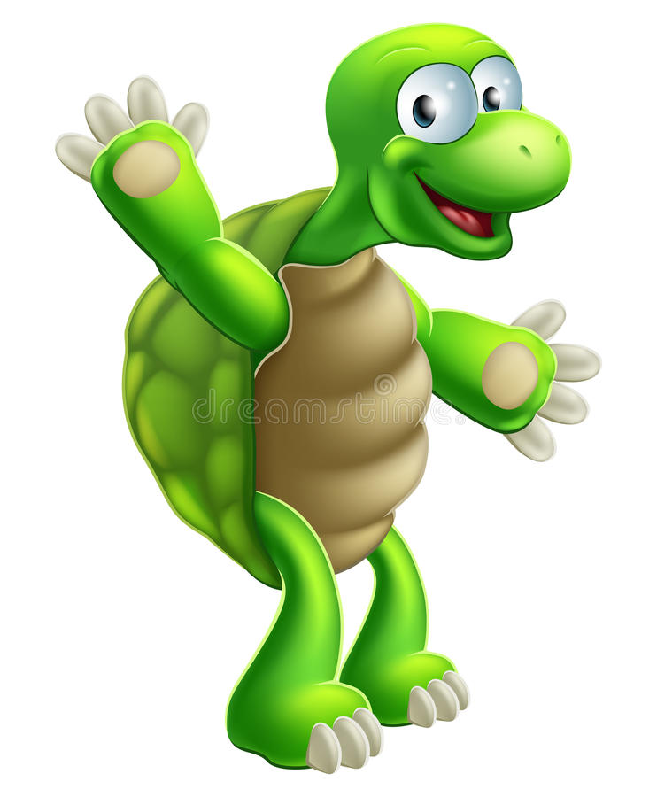 Ondulation de tortue ou de tortue de bande dessinée illustration stock