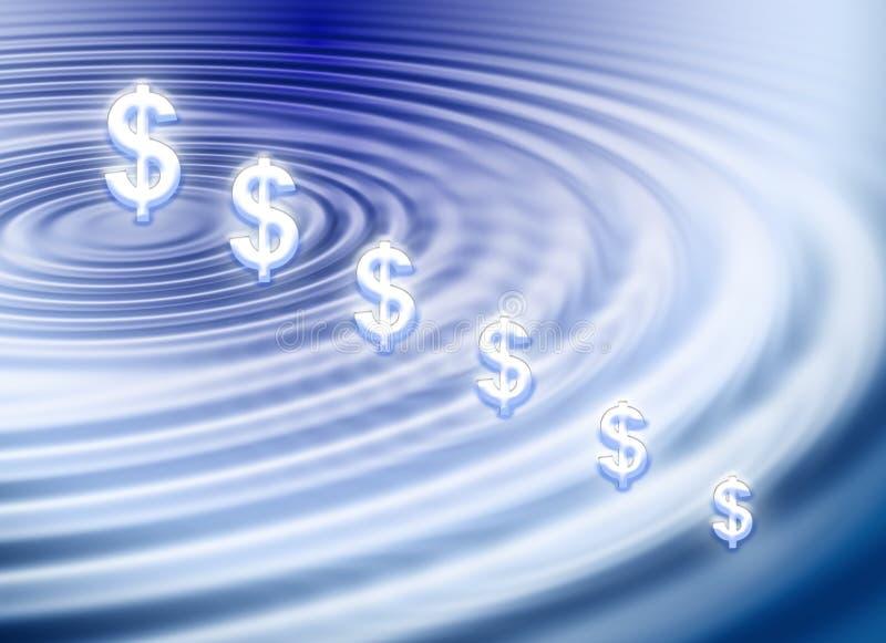 Download Ondulation du dollar illustration stock. Illustration du symbole - 2140948