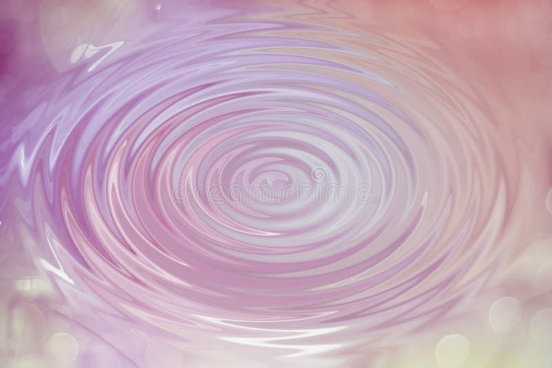 Ondulation rose abstraite de baisse de l'eau de cercle avec la vague, backgr de texture photographie stock libre de droits