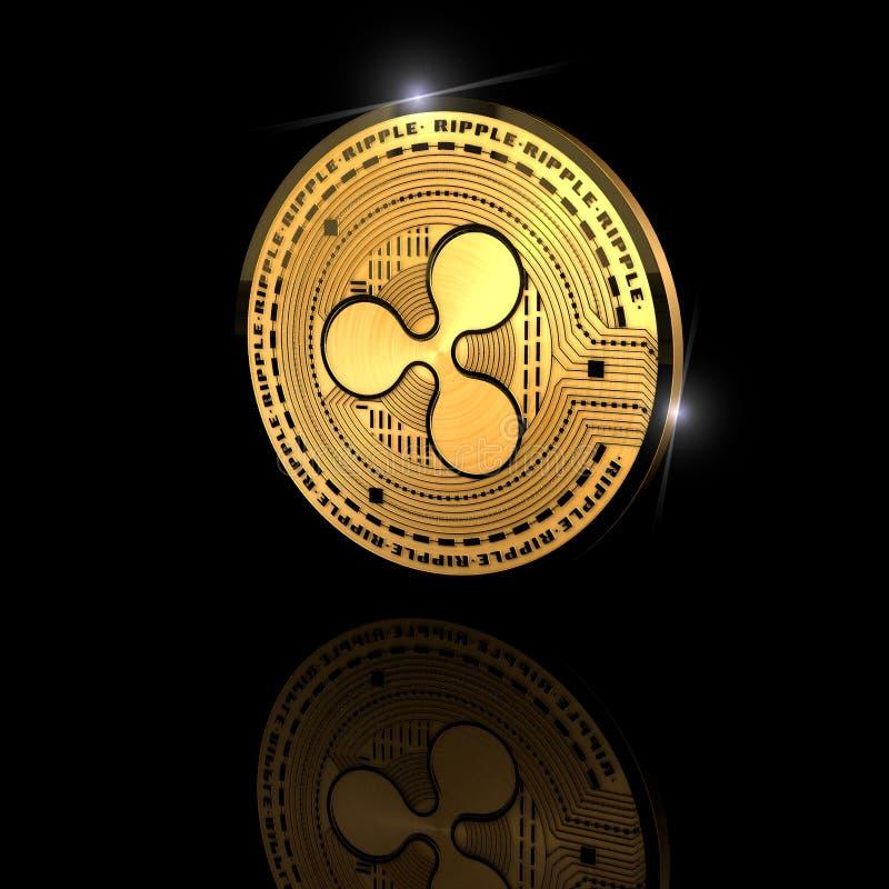 Ondulation, xrp, cryptocurrency, monnaie électronique, devise virtuelle, transitions illustration de vecteur