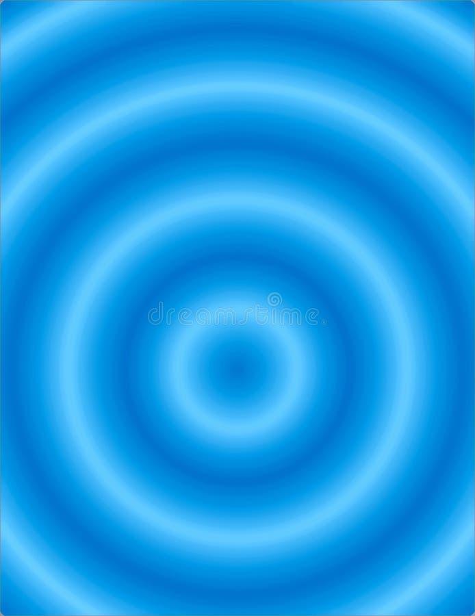 Ondulations bleues illustration stock