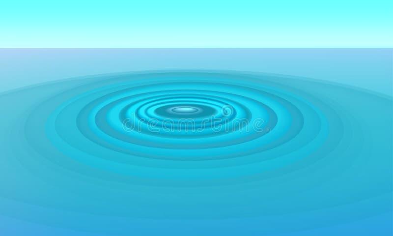 Ondulations dans l'eau illustration libre de droits