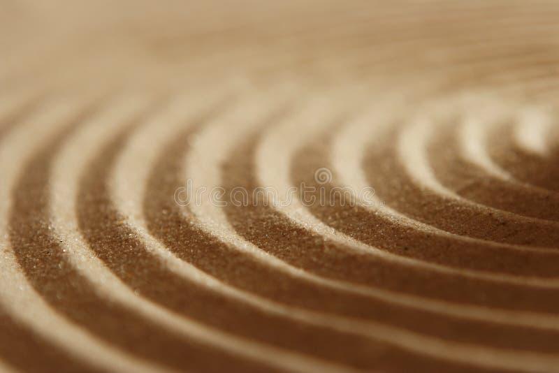 Ondulations de sable image stock