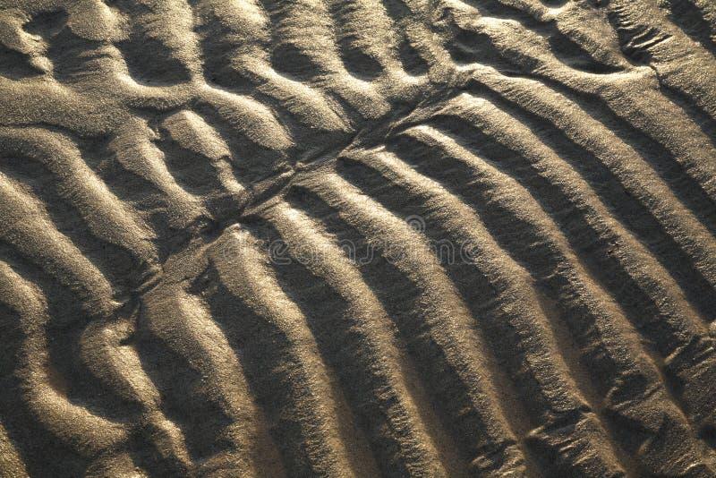 Ondulations de sable chez bas Sun photo libre de droits