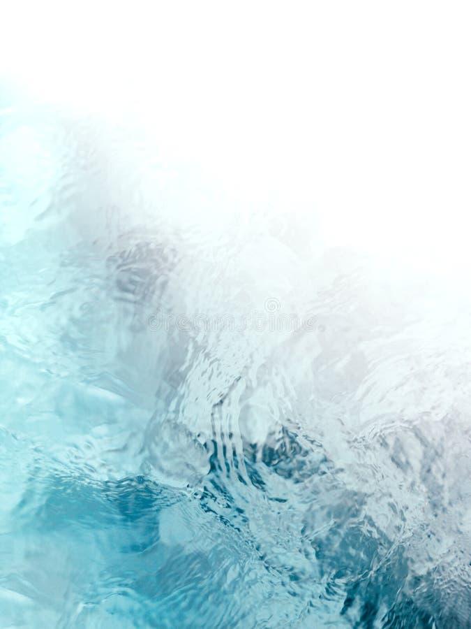Ondulations tranquilles et méditatives d'écoulement de l'eau de vert bleu photo stock