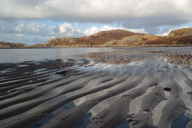 Ondulazioni della sabbia su una spiaggia dell'altopiano immagini stock libere da diritti