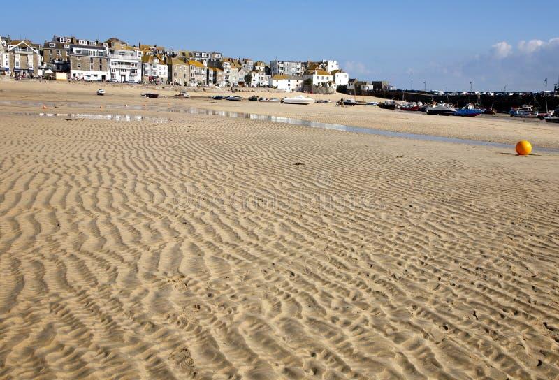 Ondulazioni della sabbia sulla spiaggia. fotografie stock libere da diritti