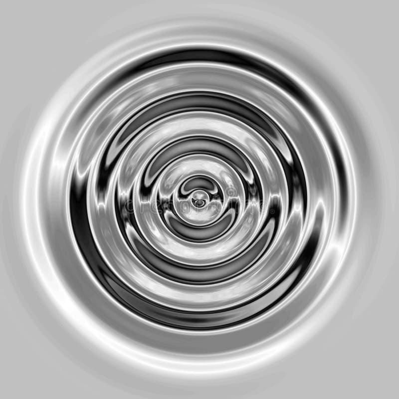 ondulazioni o onde d'argento liquide illustrazione vettoriale