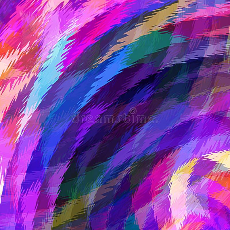 Ondulazioni ondulate della pittura di colore di acqua dell'estratto della pittura di Digital nel fondo variopinto di colori paste illustrazione vettoriale