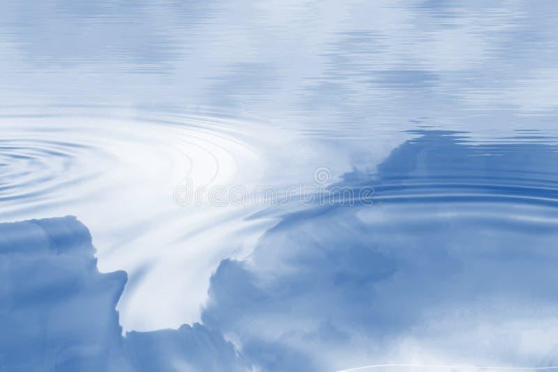 Ondulazioni su acqua blu illustrazione vettoriale