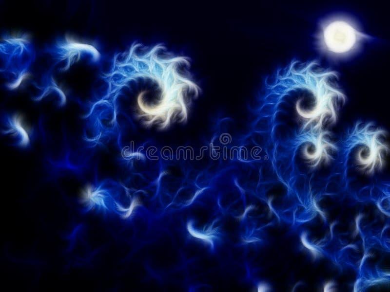 Ondule l'abstraction avec la lune illustration libre de droits