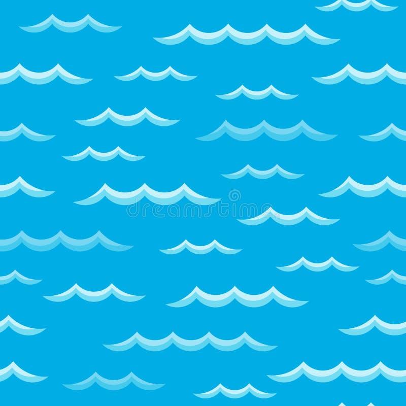 Ondule le fond sans couture 2 de thème illustration stock