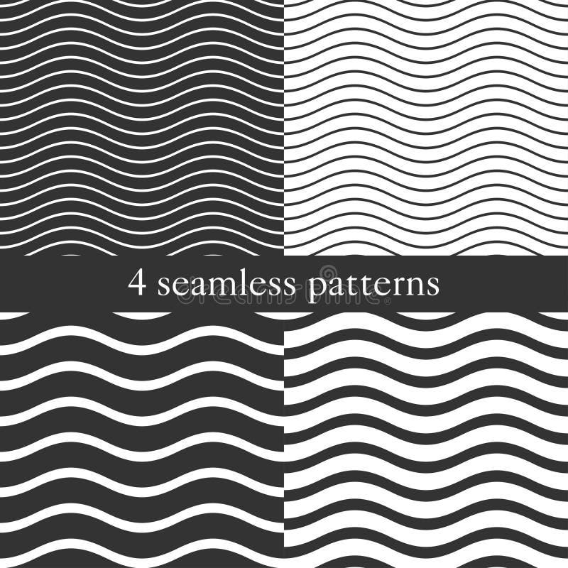 Ondule les modèles sans couture géométriques illustration de vecteur