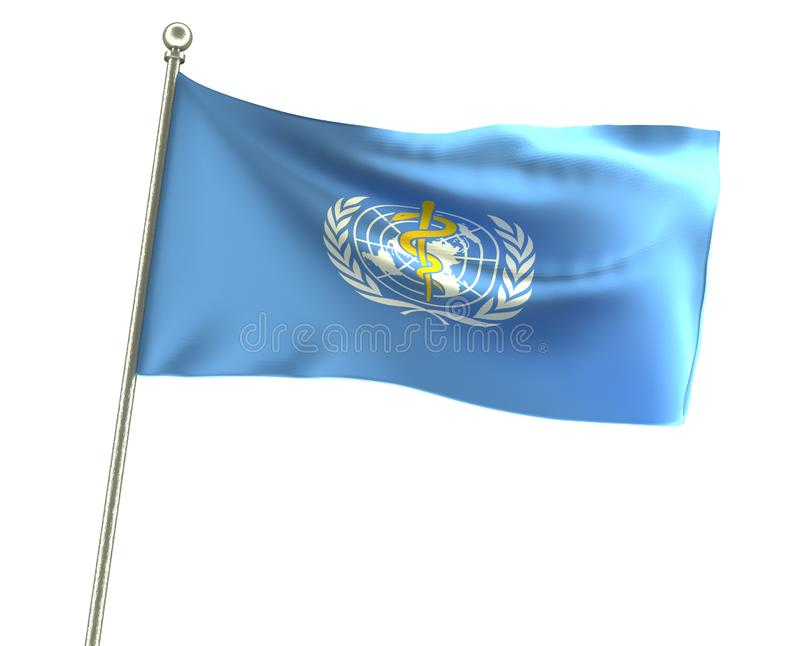 Onduleux qui drapeau illustration libre de droits