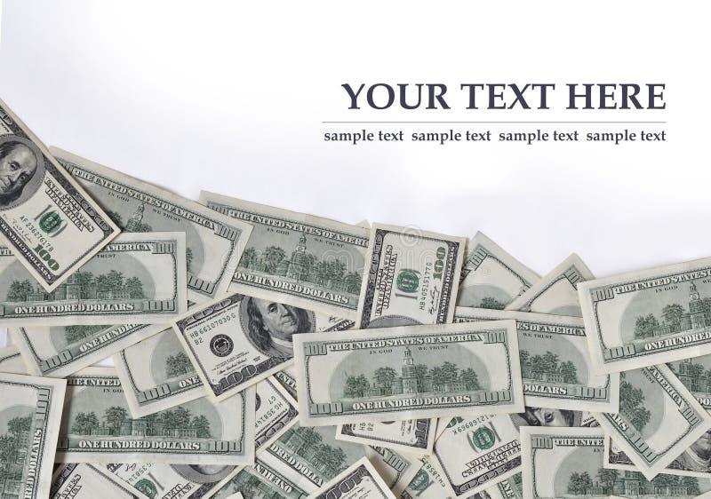 Ondulez effectué des dollars image stock