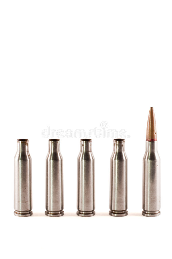 Download One AK bullet among shells stock photo. Image of kalashnikov - 8548838
