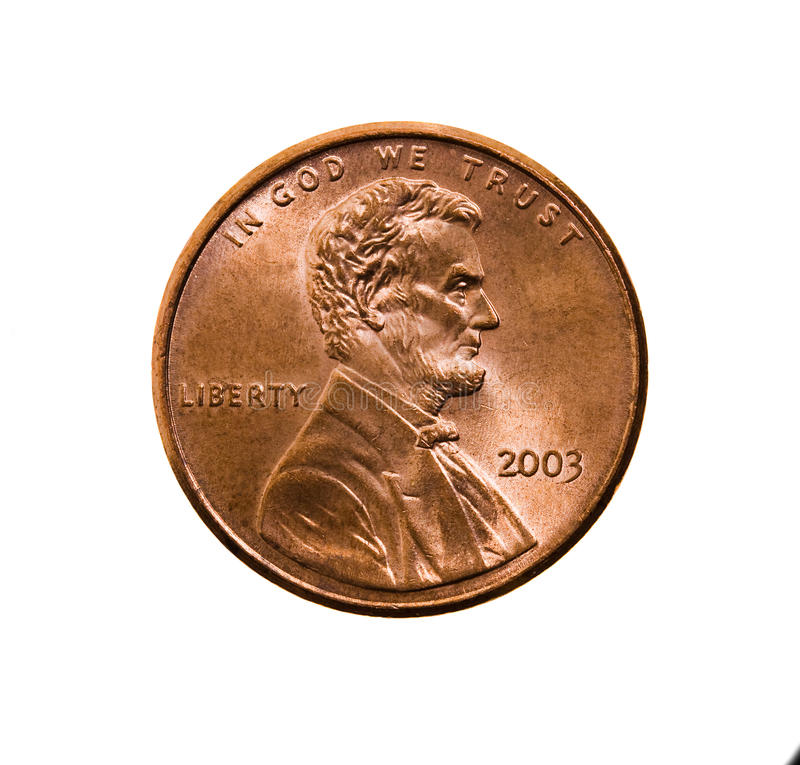 One American cent royalty free stock photos