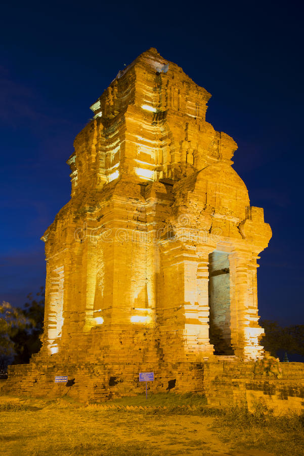One of the ancient Cham towers near Phan Thiet. Vietnam stock photo