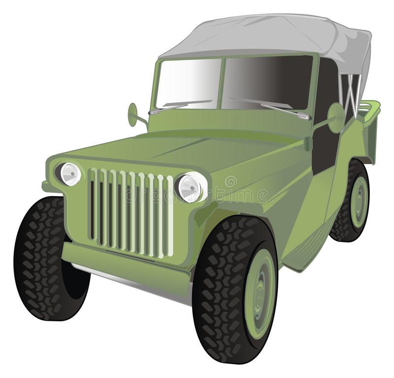 One army car stock illustration