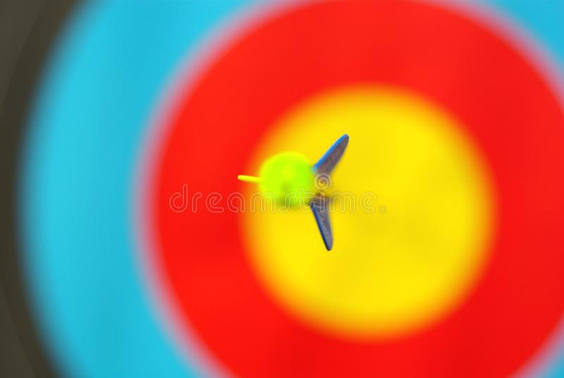 One Arrow in center target stock photo