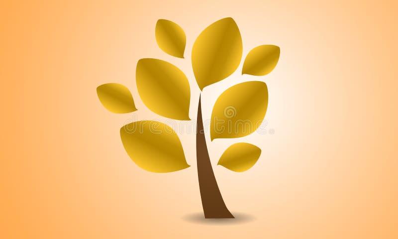 One autumn tree logo stock illustration