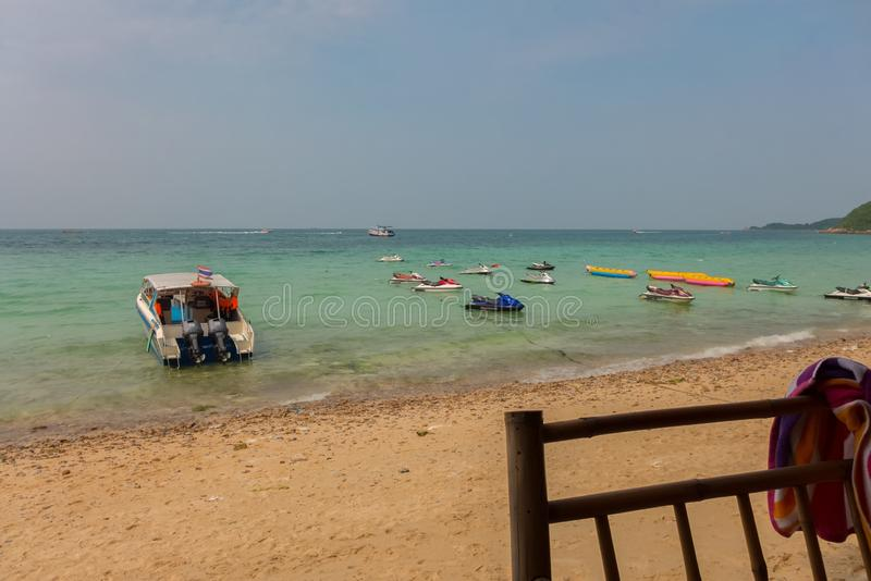One of the beaches of Koh Larn in Thailand. One of the beaches of Koh Larn royalty free stock photography