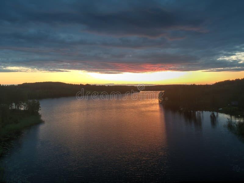 Sunset in Nasviken royalty free stock image